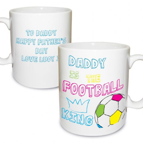 Personalised Football King Mug